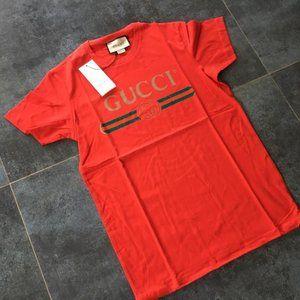 GUCCI MEN NEW MODEL CASUAL RED T-SHIRT